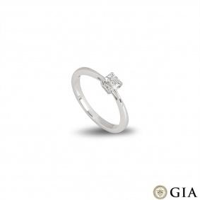 White Gold Asscher Cut Diamond Ring 0.50ct G/IF